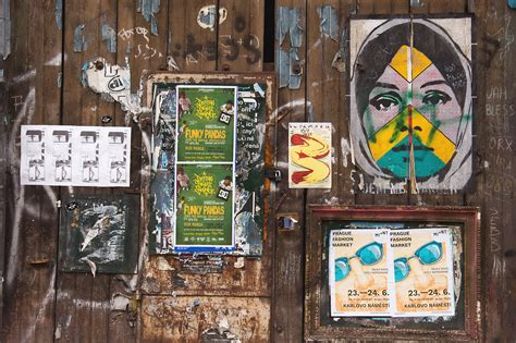 Street Wall With Posters | FREE image on LibreShot