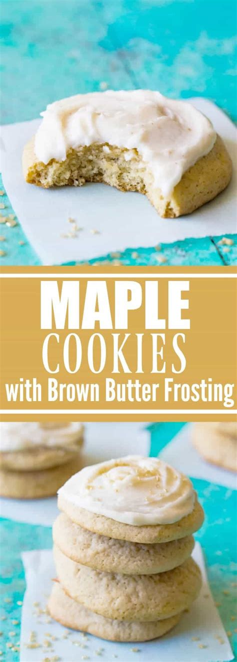 Maple Cookies with Brown Butter Frosting - House of Yumm