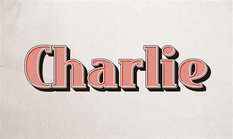 Charlie Text Effect   GraphicBurger