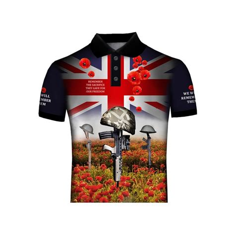 REMEMBRANCE DAY POPPY BRITISH ARMY POLO SHIRT