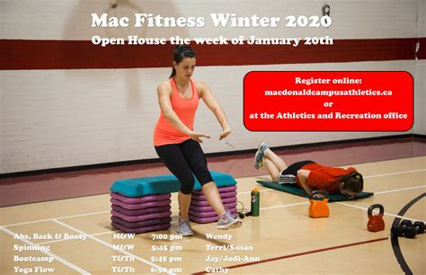 News: Free evening fitness classes the week of January