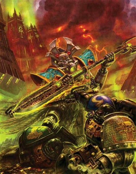 Overlord eviscerating Deathwatch marines image - Warhammer