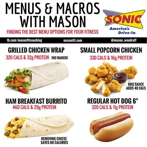 healthy options at sonic…   Fast healthy meals, Healthy