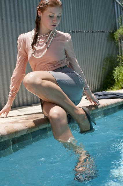 Savannah's sexy business outfit swim - SOG720