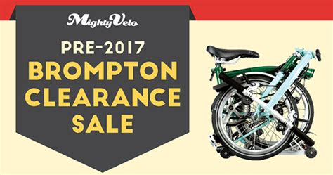 Brompton Bikes Clearance Sale by Mighty Velo lets you save
