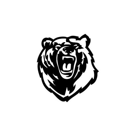 Passion Stickers - Decals Roaring Bear   Dessin ours