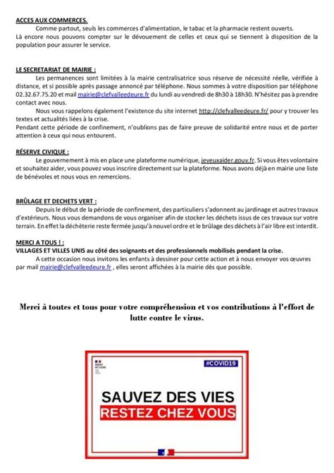 INFORMATIONS MUNICPALES : – CLEF Vallée d'Eure