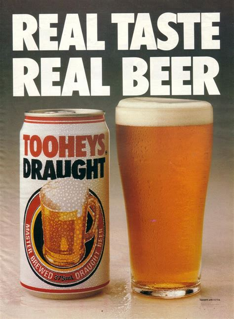 1990 Tooheys Draught Beer Ad - Australia | Covers a
