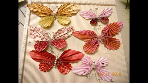 Butterfly made with circles and square scraps - YouTube