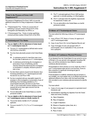 23 Printable Form I-485 Templates - Fillable Samples in