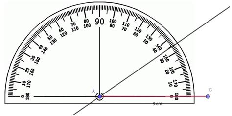 How do you draw an angle ABC , with A=35 degrees, AC=6cm