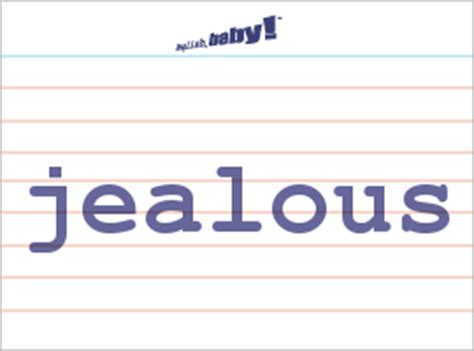 """What does """"jealous"""" mean?   Learn English at English, baby!"""