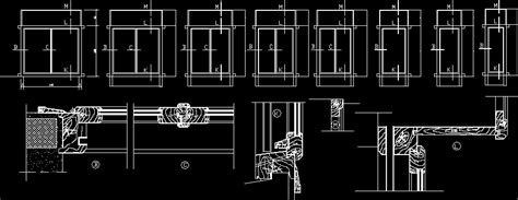 Wood windows details in AutoCAD | Download CAD free (269