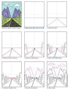 Draw a Vanishing Point Road (Art Projects for Kids