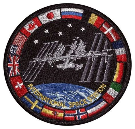 Shop International Space Station Patch with Flags Online