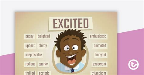 Excited Synonyms Poster Teaching Resource | Teach Starter