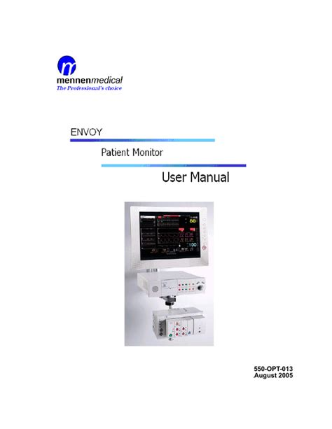 ENVOY Patient Monitor User Manual 550-OPT-013 August 2005