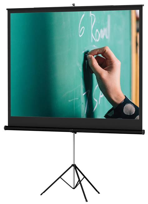 Projection Screen | Tripod Stand, 84-inch Retractable
