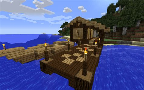 Fisherman's hut with a boat, creation #11450