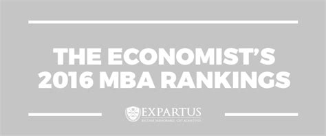 The Economist's 2016 MBA Rankings | The GMAT Club