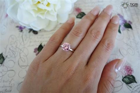 2 Carat Engagement Ring, Classic Solitaire Ring, Man Made