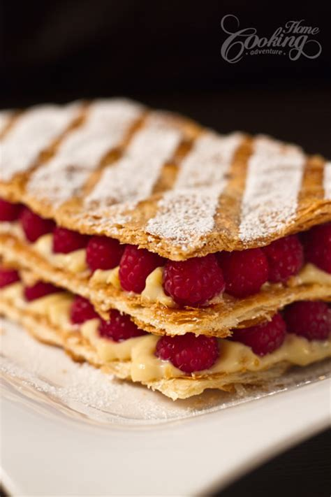 Raspberry Mille Feuille (Napoleon) :: Home Cooking Adventure