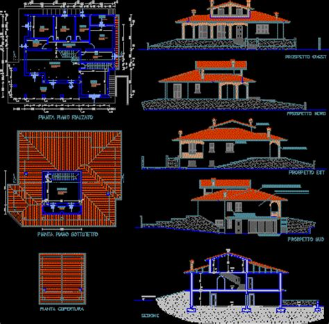 Villa residential in AutoCAD | Download CAD free (242