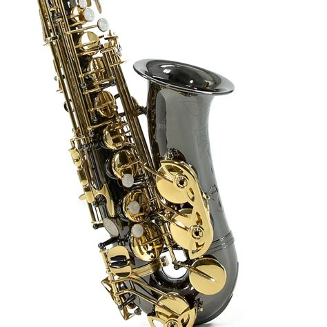Alto Saxophone, Black & Gold, Christmas Pack at Gear4music