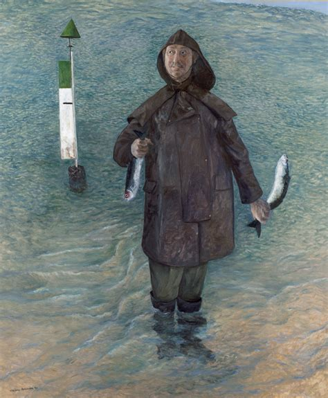 William Robinson: Self-portrait with stunned mullet