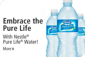 Nestlé Pure Life Filtered Bottled Water for Hydration