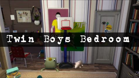 The Sims 4: Room Build | Twin Boys Bedroom - YouTube