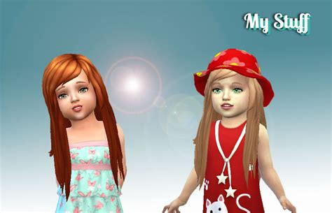 Mystufforigin: Cute Hairstyle for Toddlers ~ Sims 4 Hairs