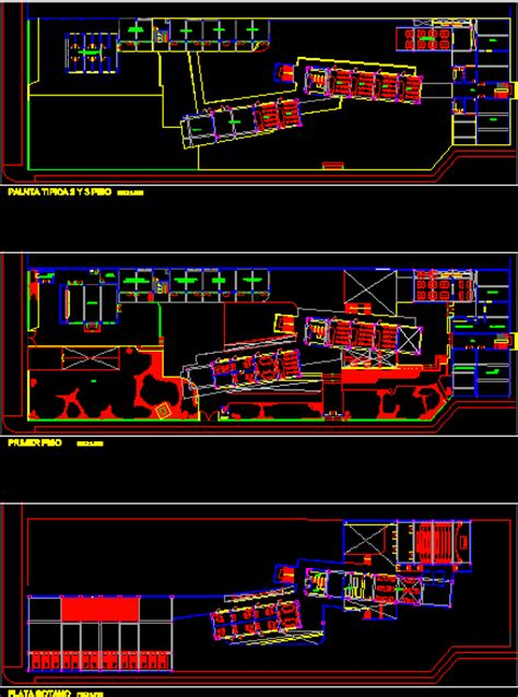 Architecture school plans in AutoCAD | Download CAD free