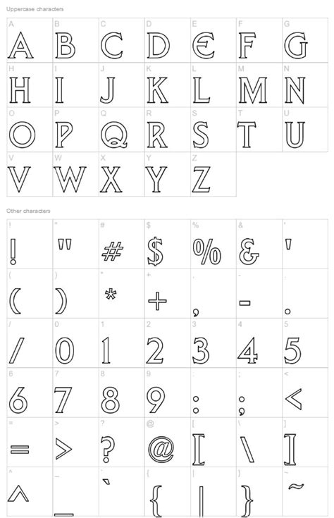 Liberty Hollow - a free (all capital letter) outline font